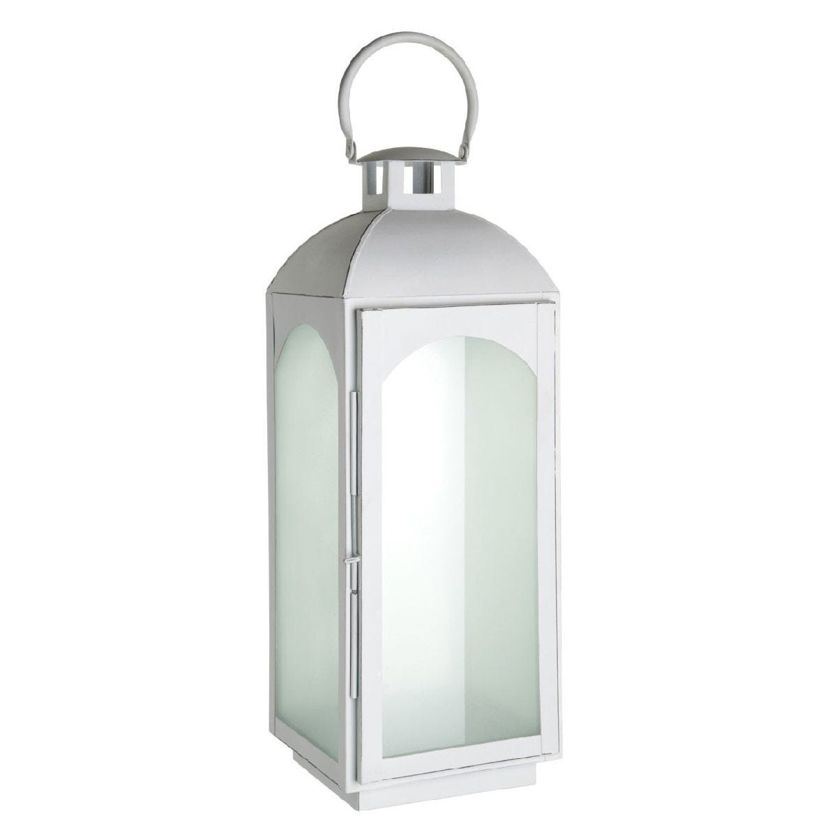 Premier Housewares Complements Large Lantern - White Wash