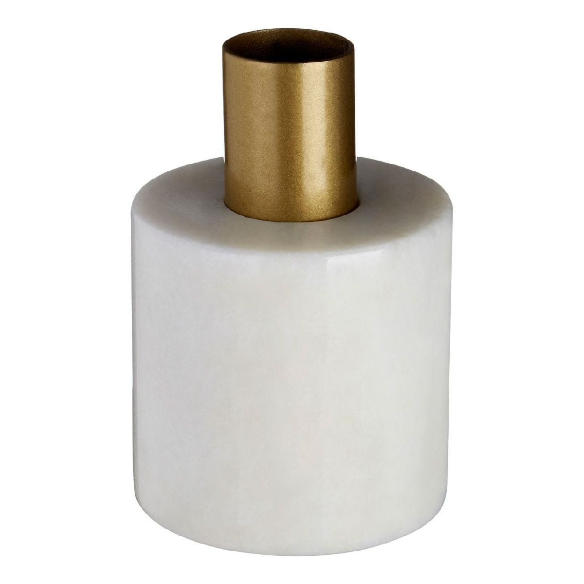 Premier Housewares Lamonte Candle Holder - White Marble