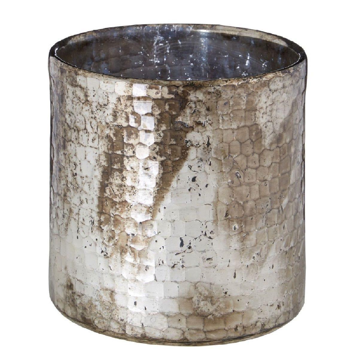 Premier Housewares Gaia Hurricane Candle Holder - Oxidised Gold Finish