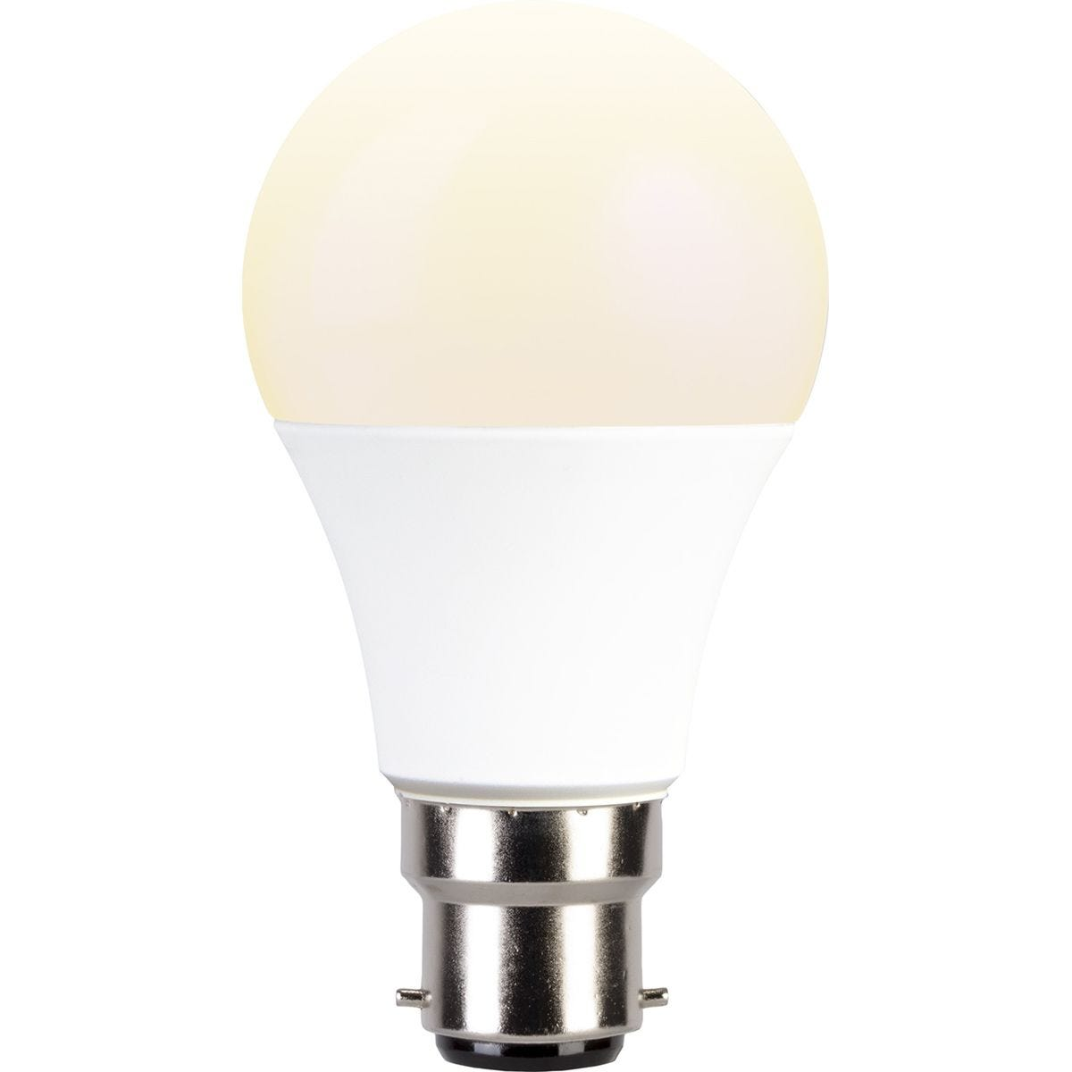 TCP Smart WiFi Dimmable Warm White LED Bayonet 60W Light Bulb - No Hub Required