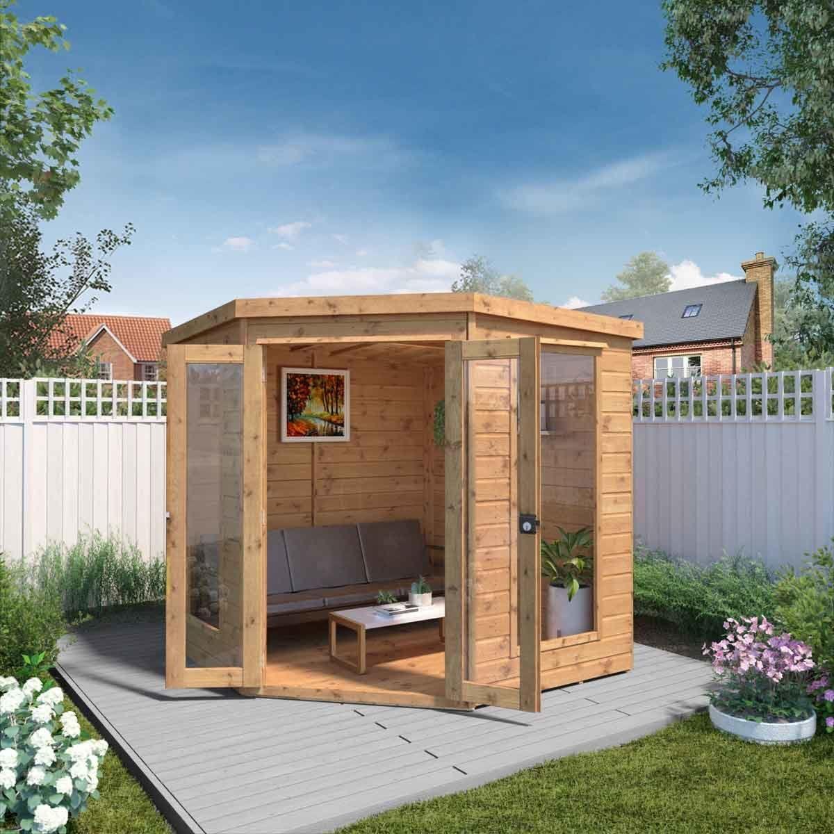 Mercia Premium Corner Summerhouse -7' x 7'