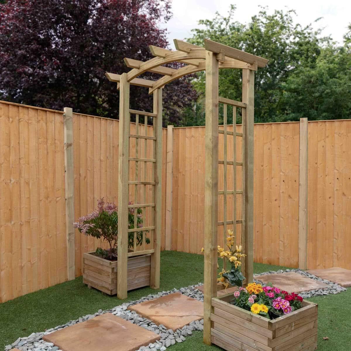 Mercia Bow Top Wooden Garden Arch