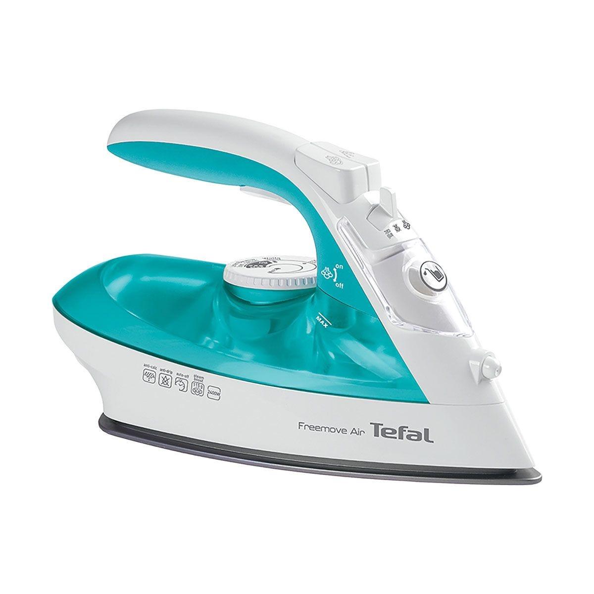 Tefal FV6520 Freemove Air Cordless Iron - Turquoise & White