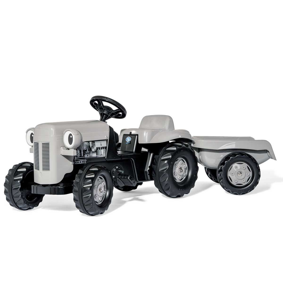 Little Grey Fergie Kid's Ride-On Tractor and Trailer