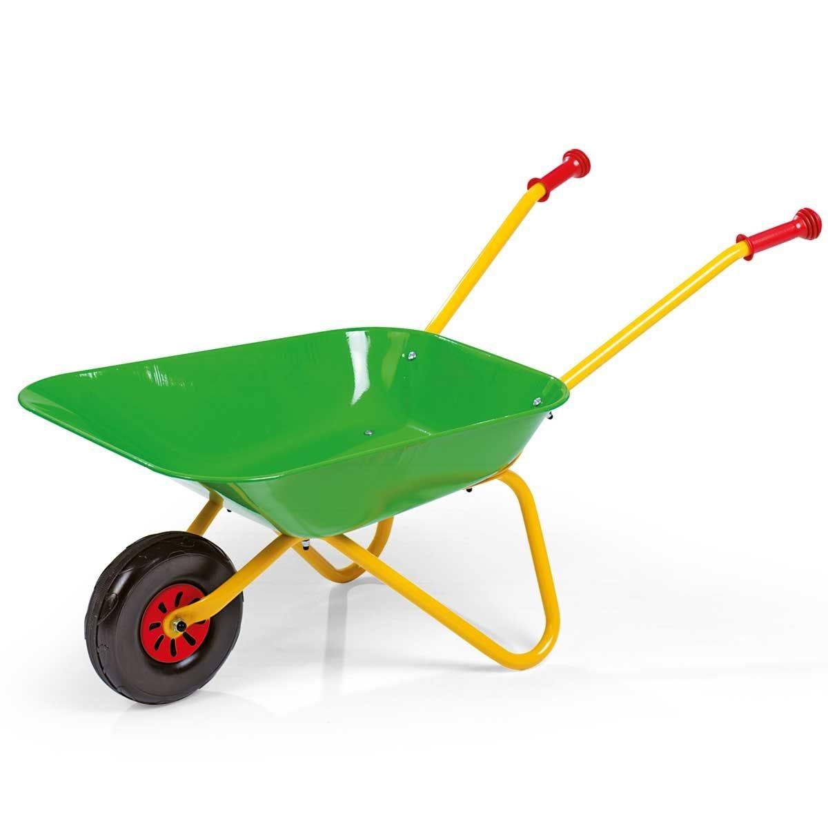 Kid's Metal Wheelbarrow - Green