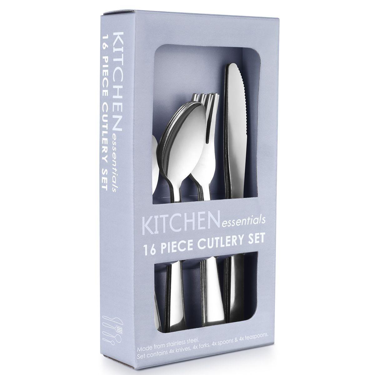 Essentials 16-Piece Stainless Steel Cutlery Set
