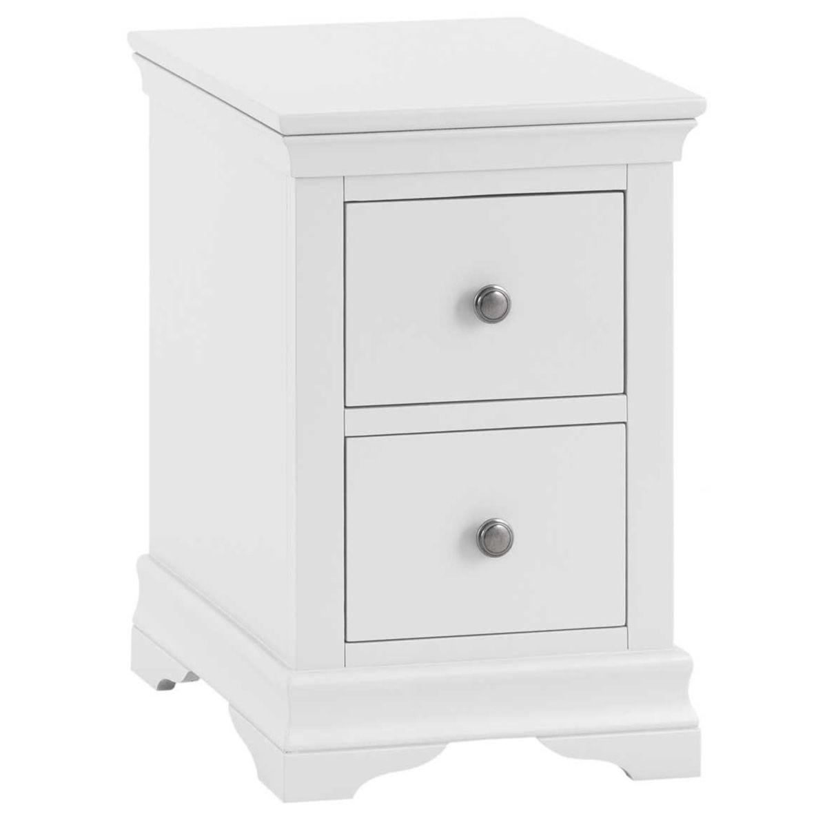 Sewla 2 Drawer Bedside Table - White