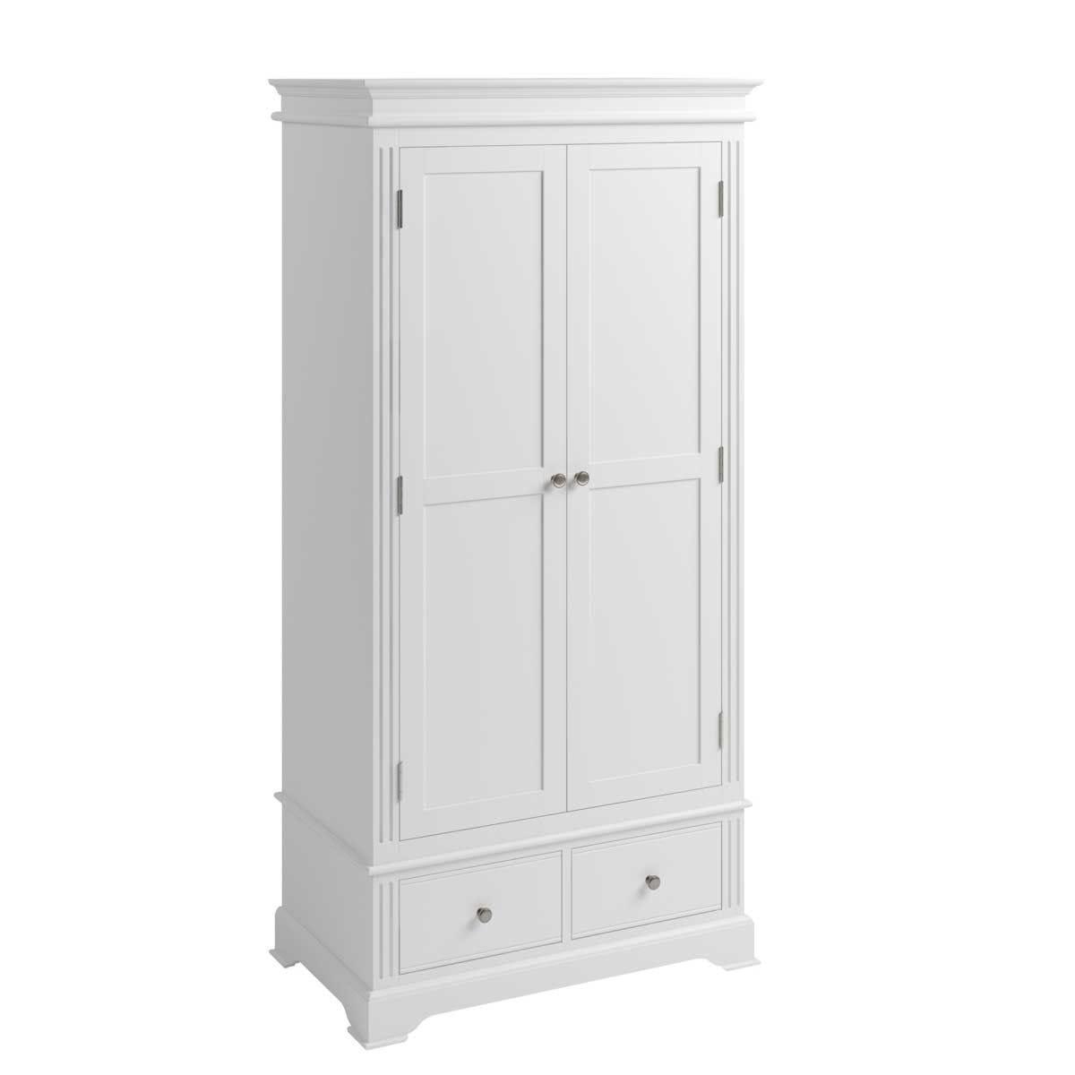 Bingley Double Wardrobe - White