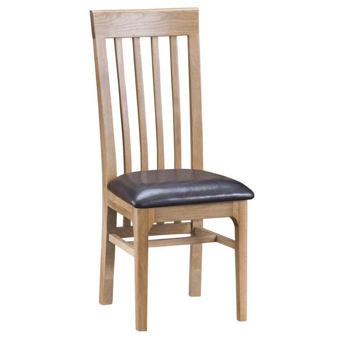 Cranbrook Natural Oak Slat Back Chair