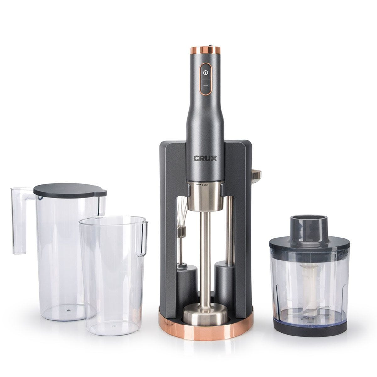 Crux 7-in-1 Hand Blender - Black, Silver & Rose Gold