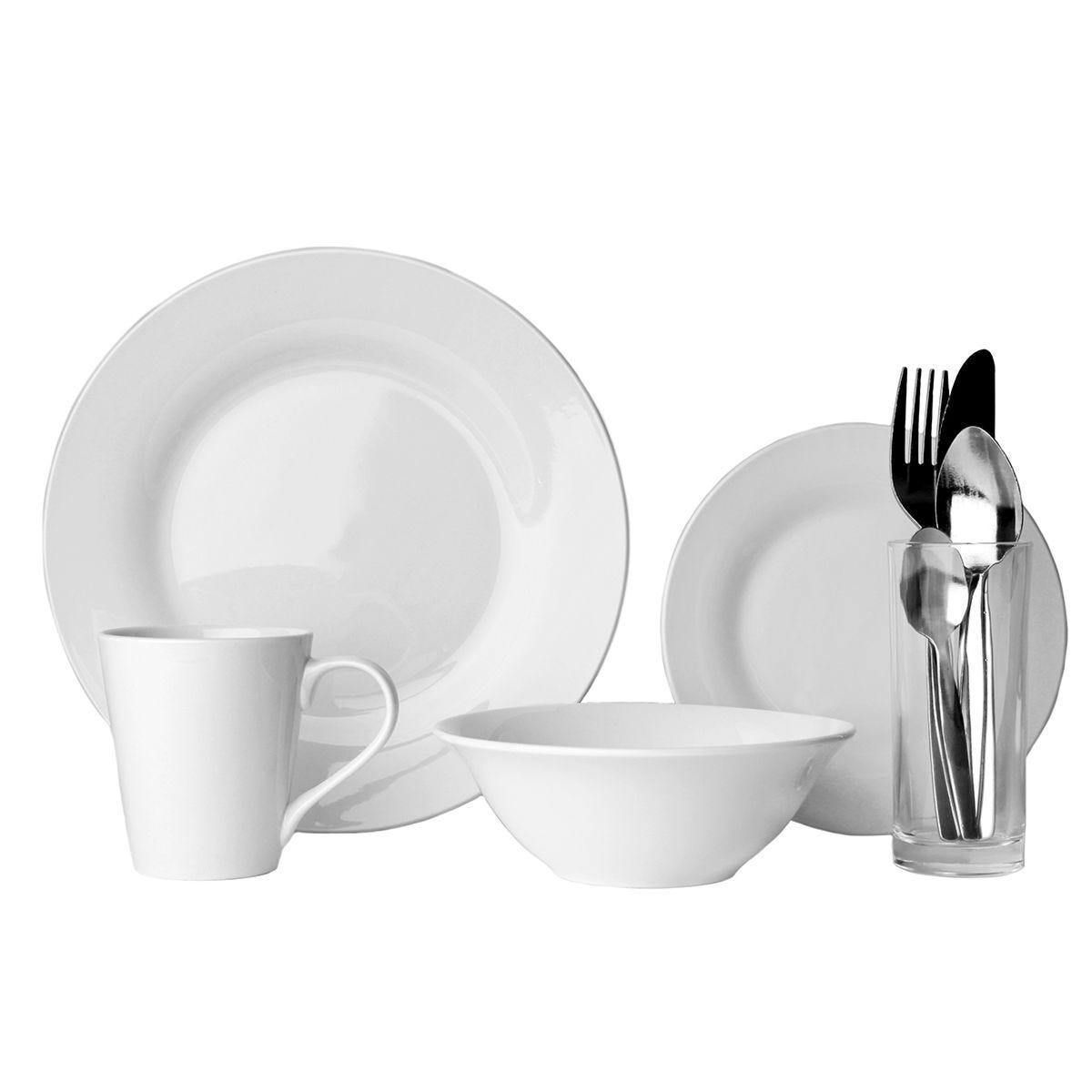 Sabichi 9-Piece Dinner Set - White