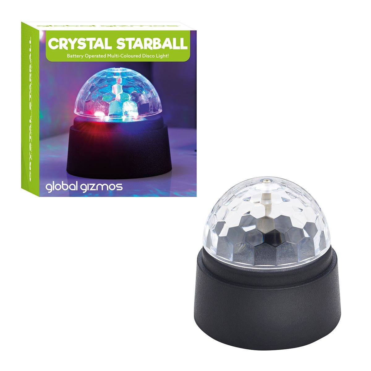 Global Gizmos Battery Operated Crystal Starball Disco Light
