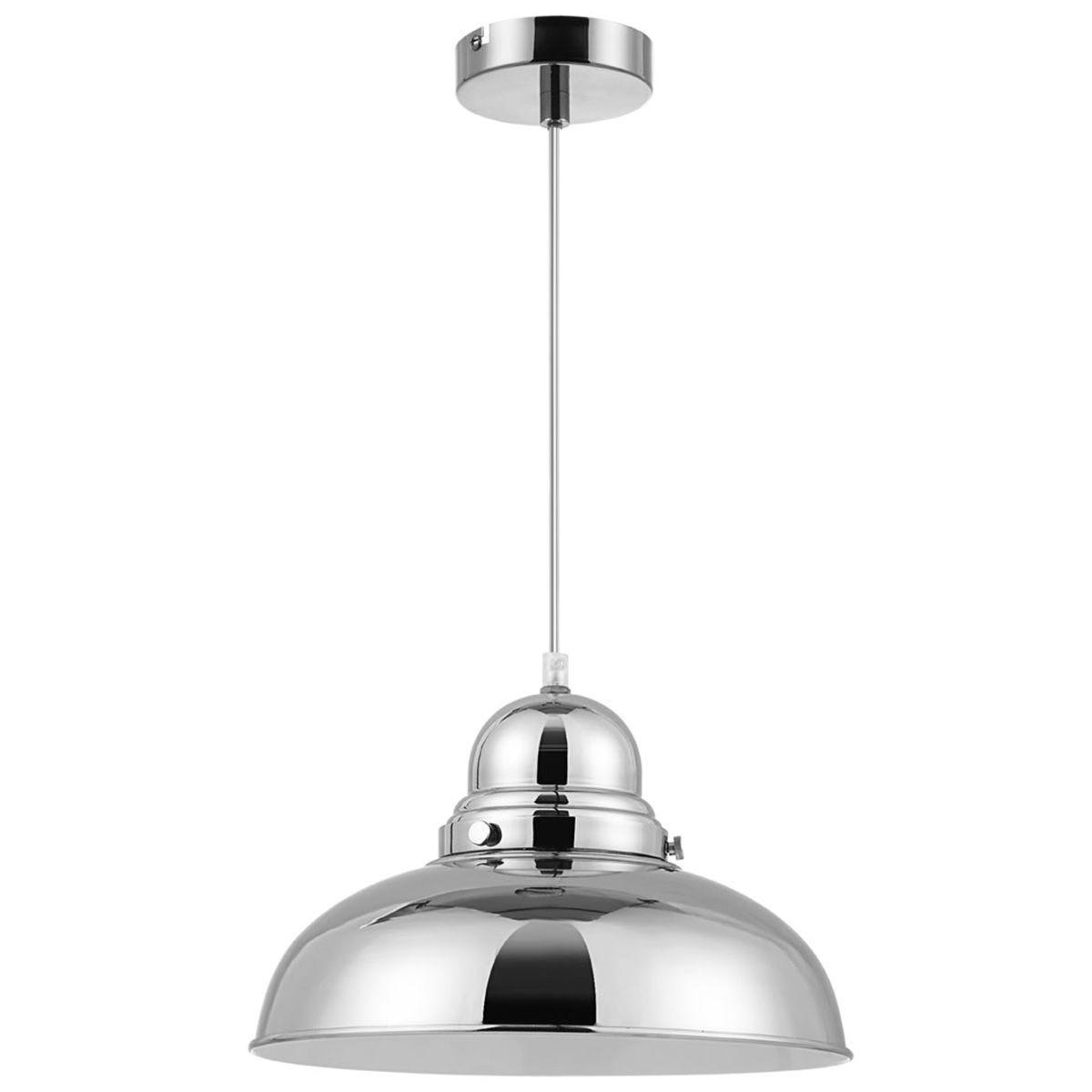 Premier Housewares Jasper Pendant Light - Chrome Finish