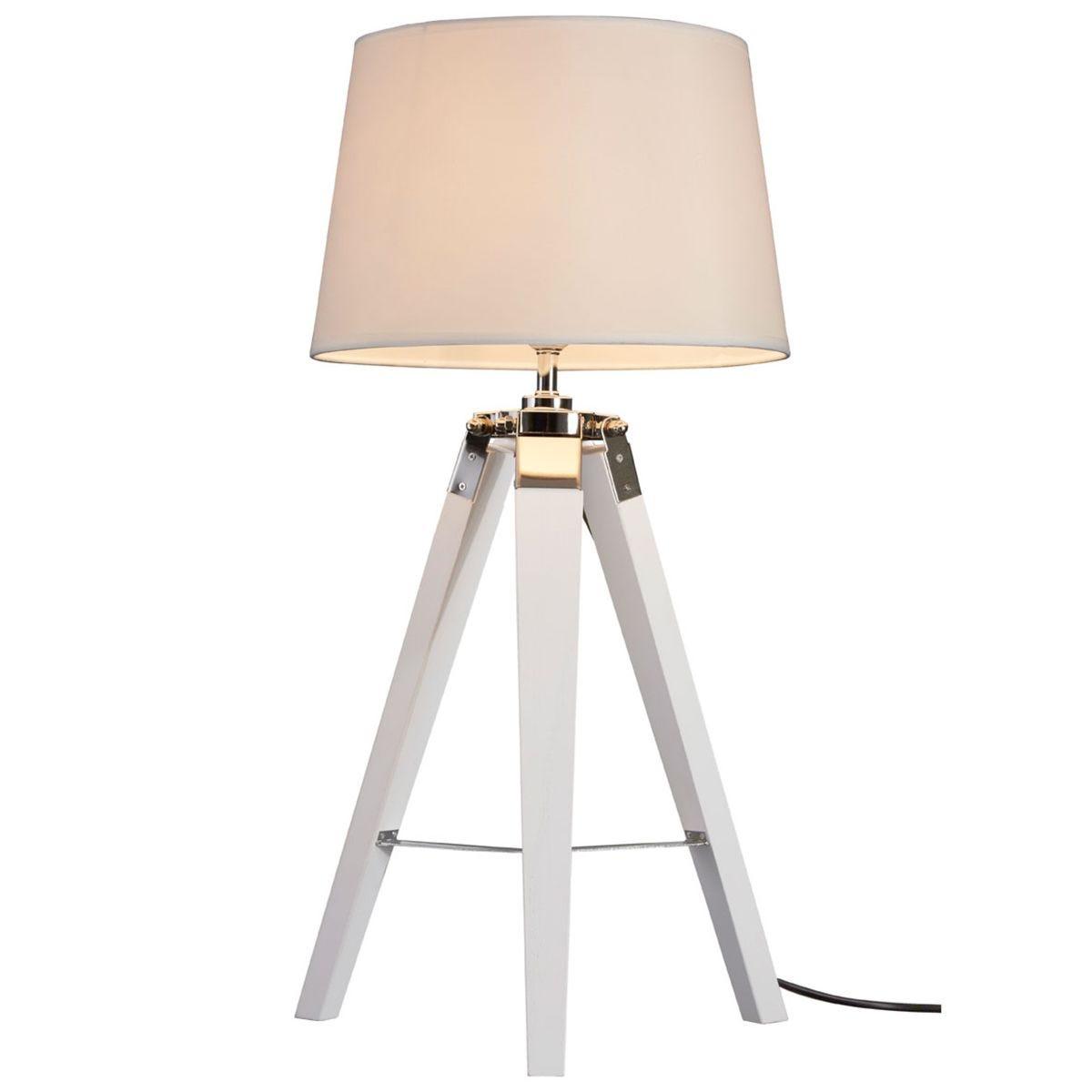 Premier Housewares Bailey Table Lamp Tripod - White