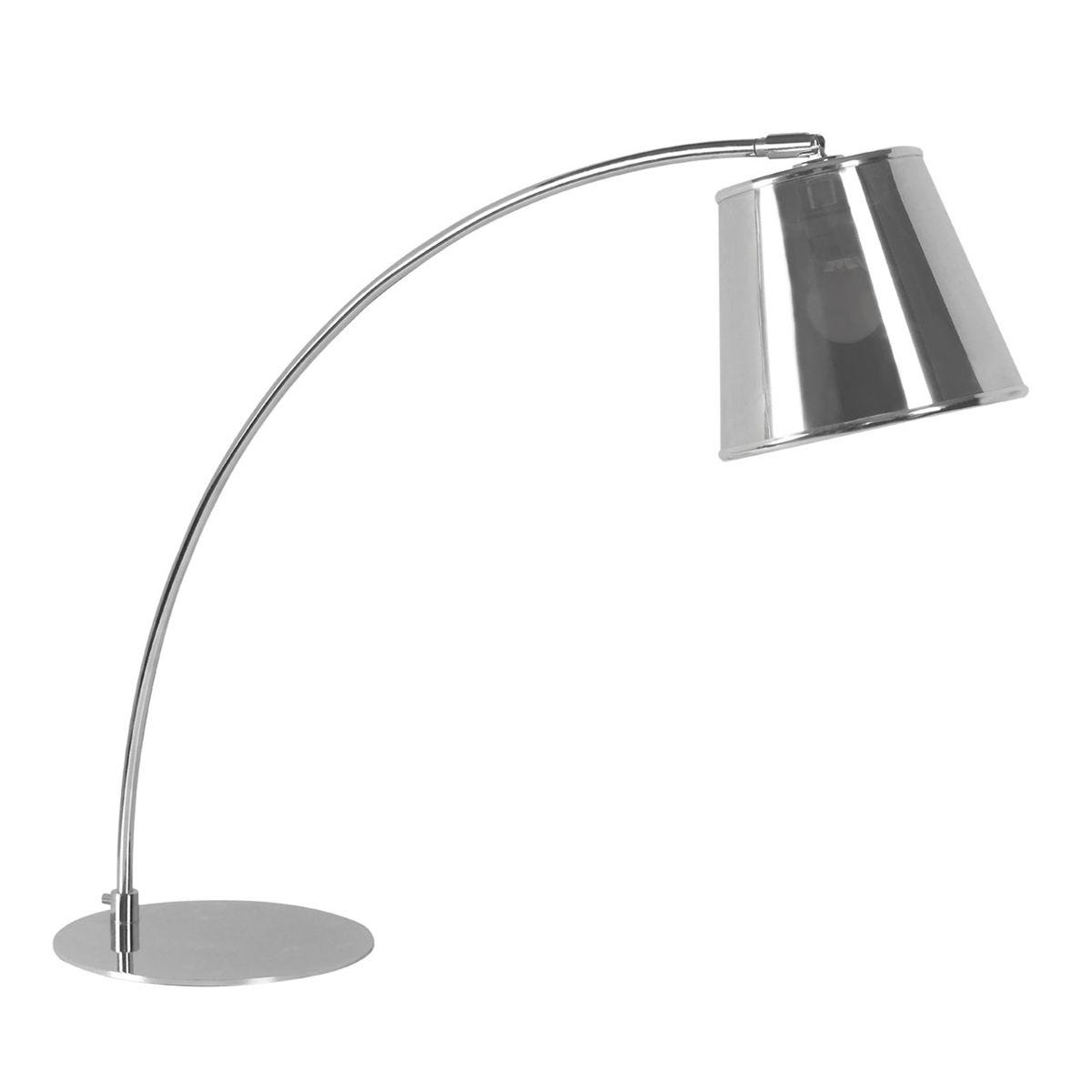 Premier Housewares Table Lamp in Chrome with PVC Shade