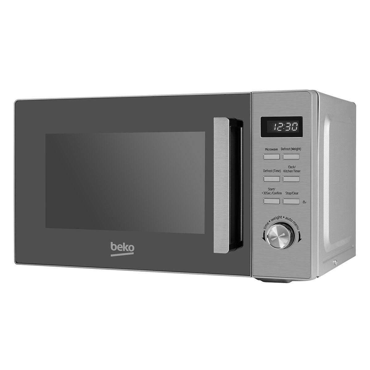Beko MOF20110X 800W 20L Compact Solo Microwave - Silver