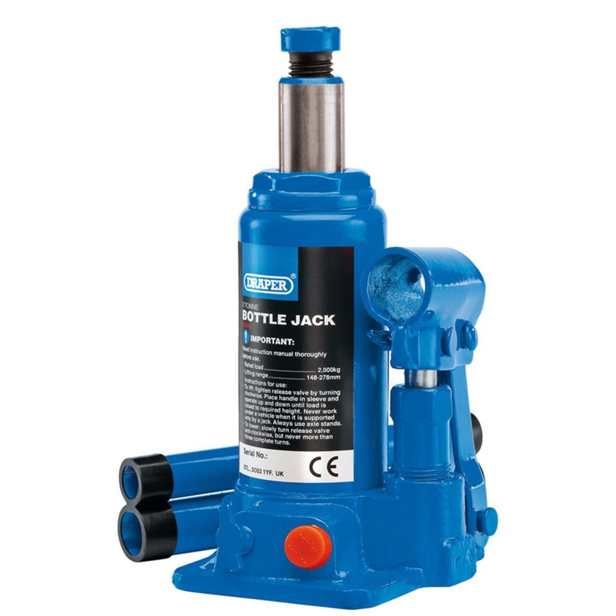 Draper Hydraulic Bottle Jack (2 Tonne)