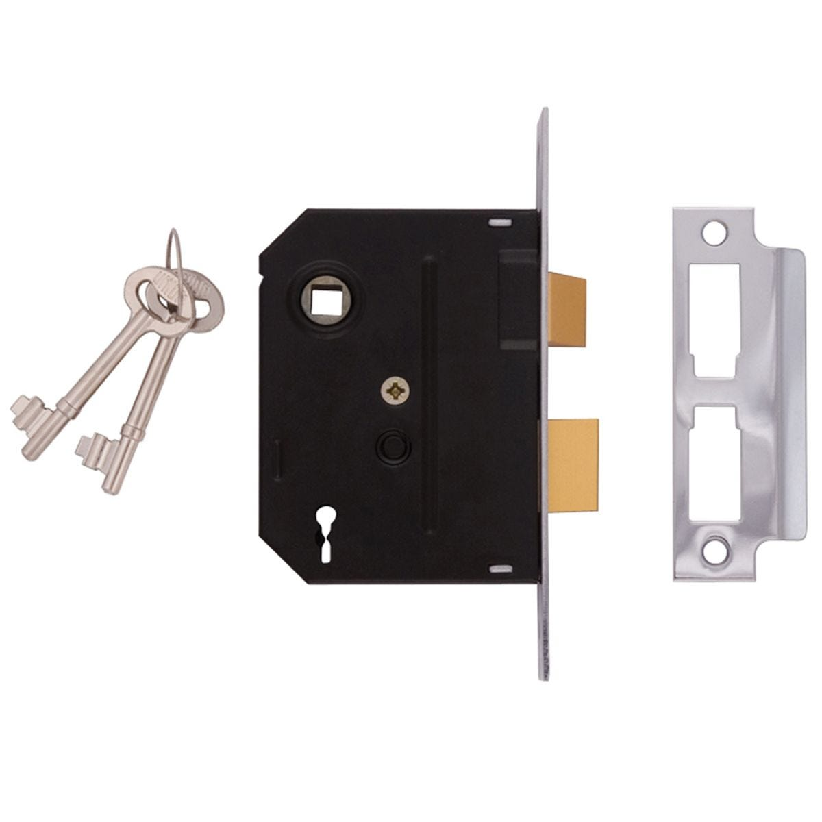 Union 2295 2 Lever Mortice Sashlock Chrome Finish 63mm 2.5in Box