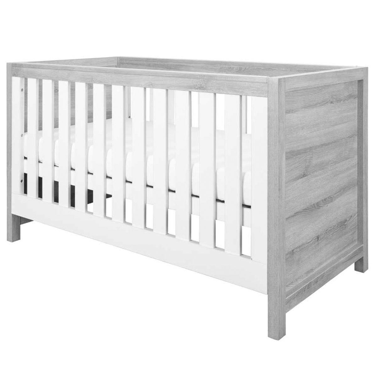 Tutti Bambini Modena 3-in-1 Cot Bed – Ash Grey/White