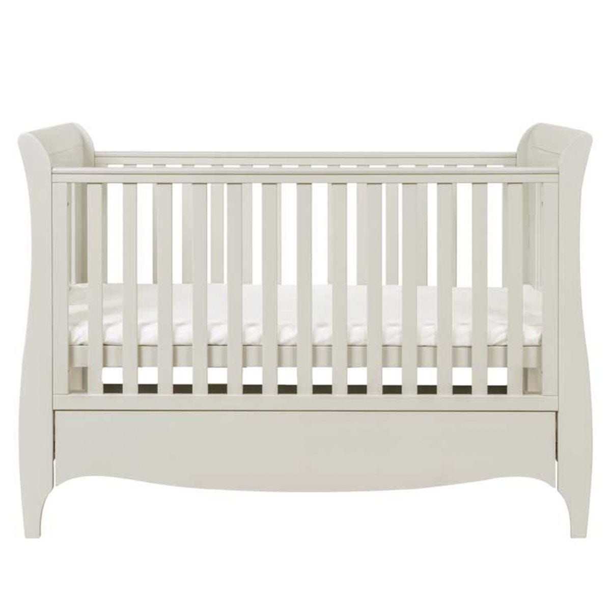 Tutti Bambini Roma Sleigh Cot Bed With Drawer - Linen