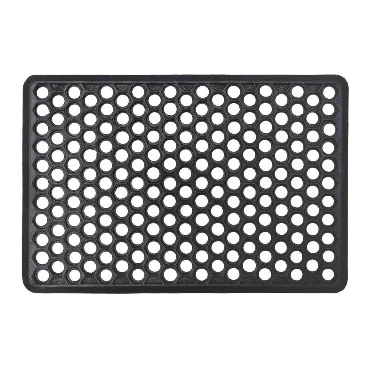 JVL Outdoor Honeycomb Rubber Ring Entrance Floor Door Mat - 40 x 60cm