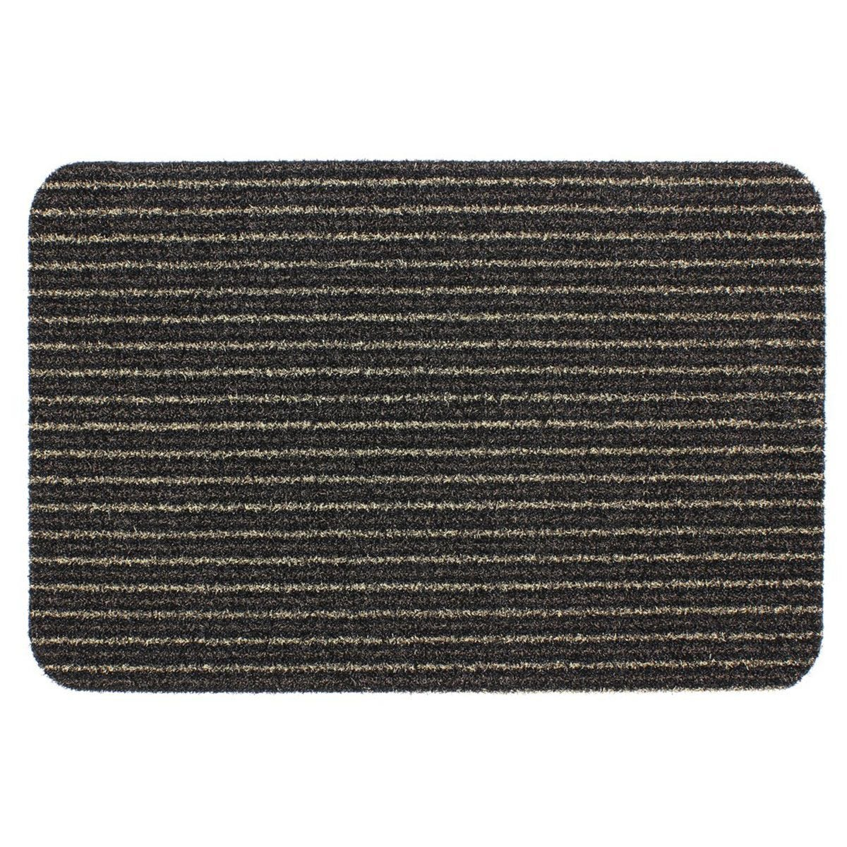 JVL Infinity 50 x 75cm Heavy Duty Scraper Entrance Door Mat - Brown
