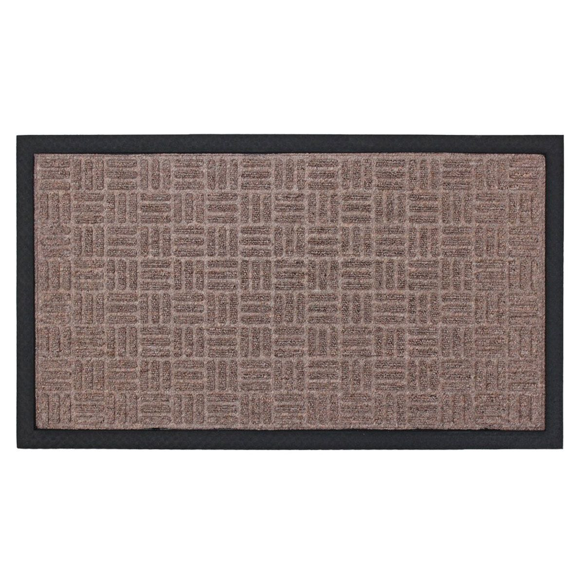 JVL Firth Carpet Rubber Backed Entrance 40 x 70cm Door Mat - Beige