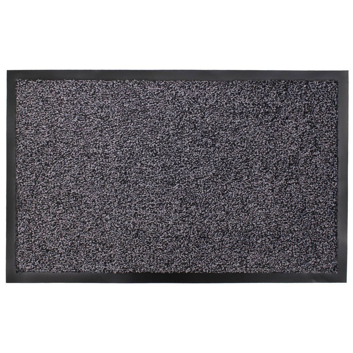 JVL Admiral Barrier Microfiber 50 x 80cm Door Mat - Charcoal