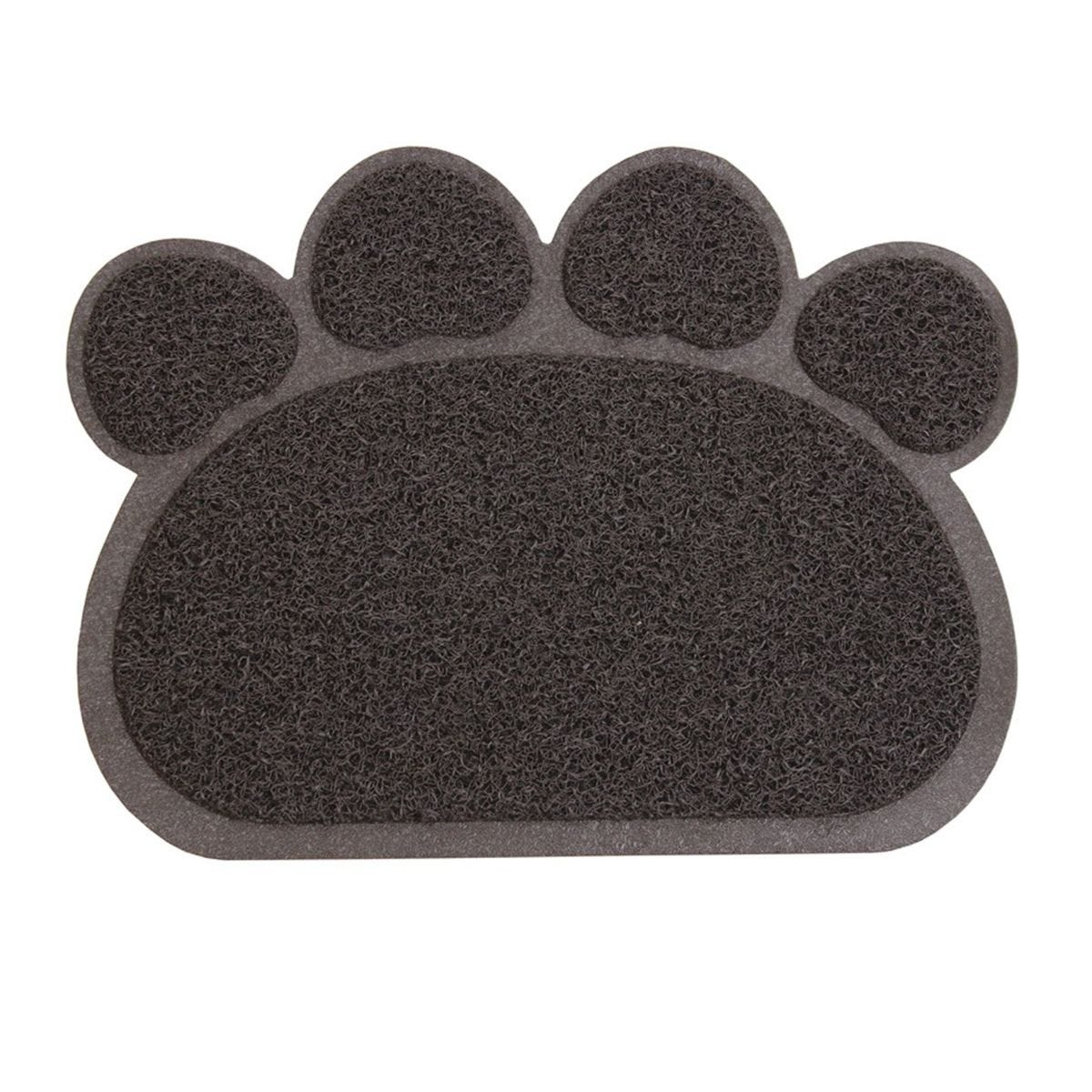 JVL 45x60cm Paw Shaped Mud Grabber Doormat - Brown