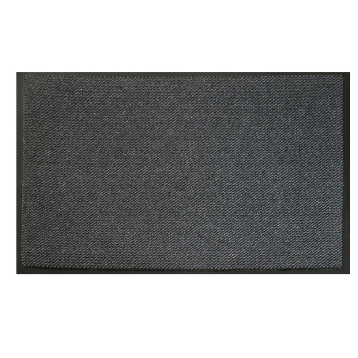 JVL Heavy Duty Commodore Backed Barrier Door Floor Mat Grey/Black 120 x 170 cm