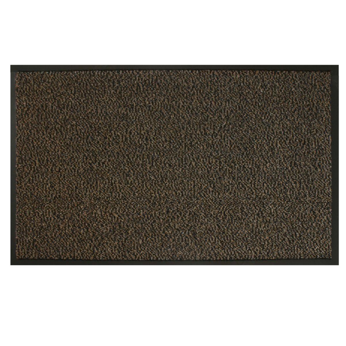 JVL 120x170cm Heavy Duty Commodore Doormat - Brown/Black