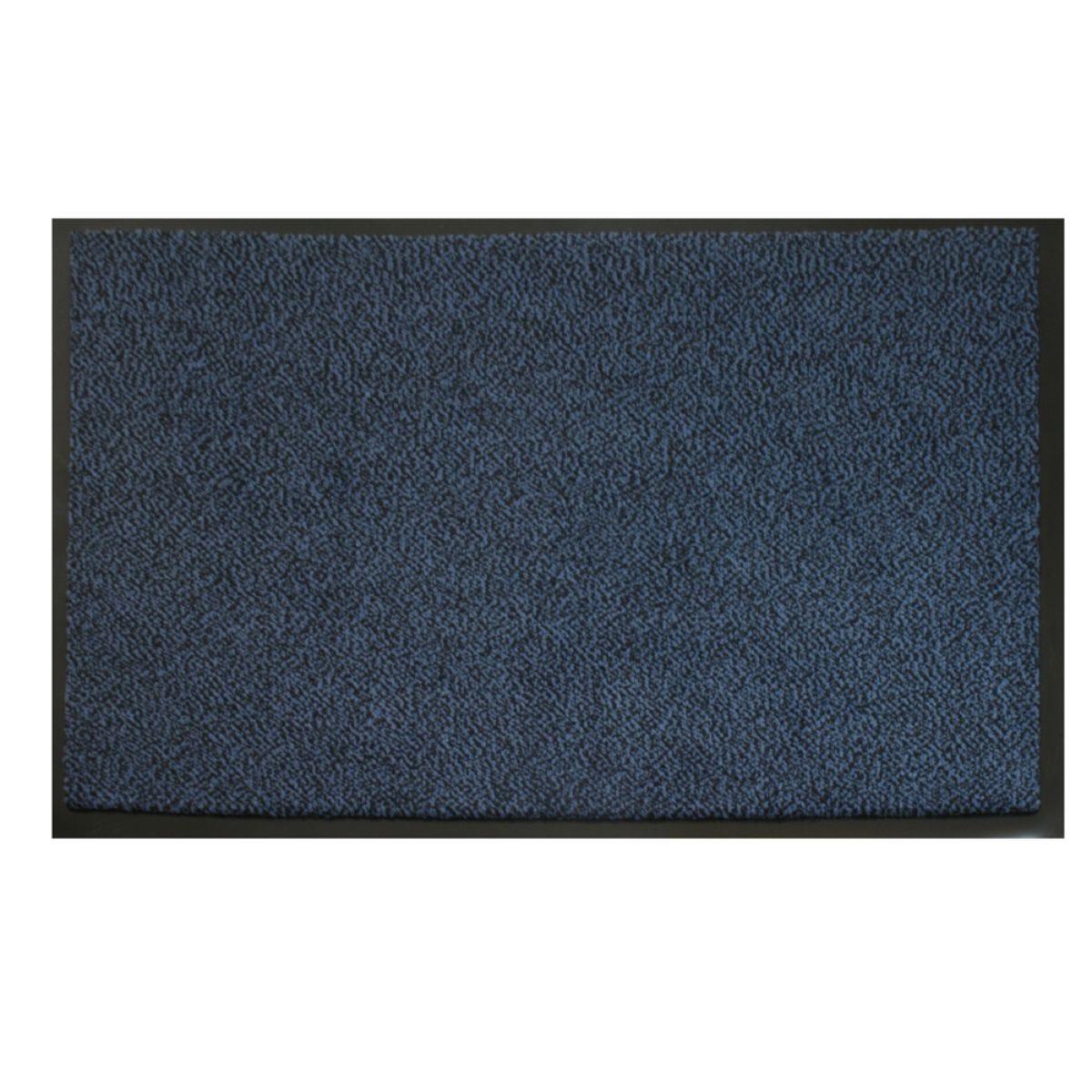 JVL Heavy Duty Commodore Backed Barrier Door Floor Mat Blue/Black 120 x 170 cm