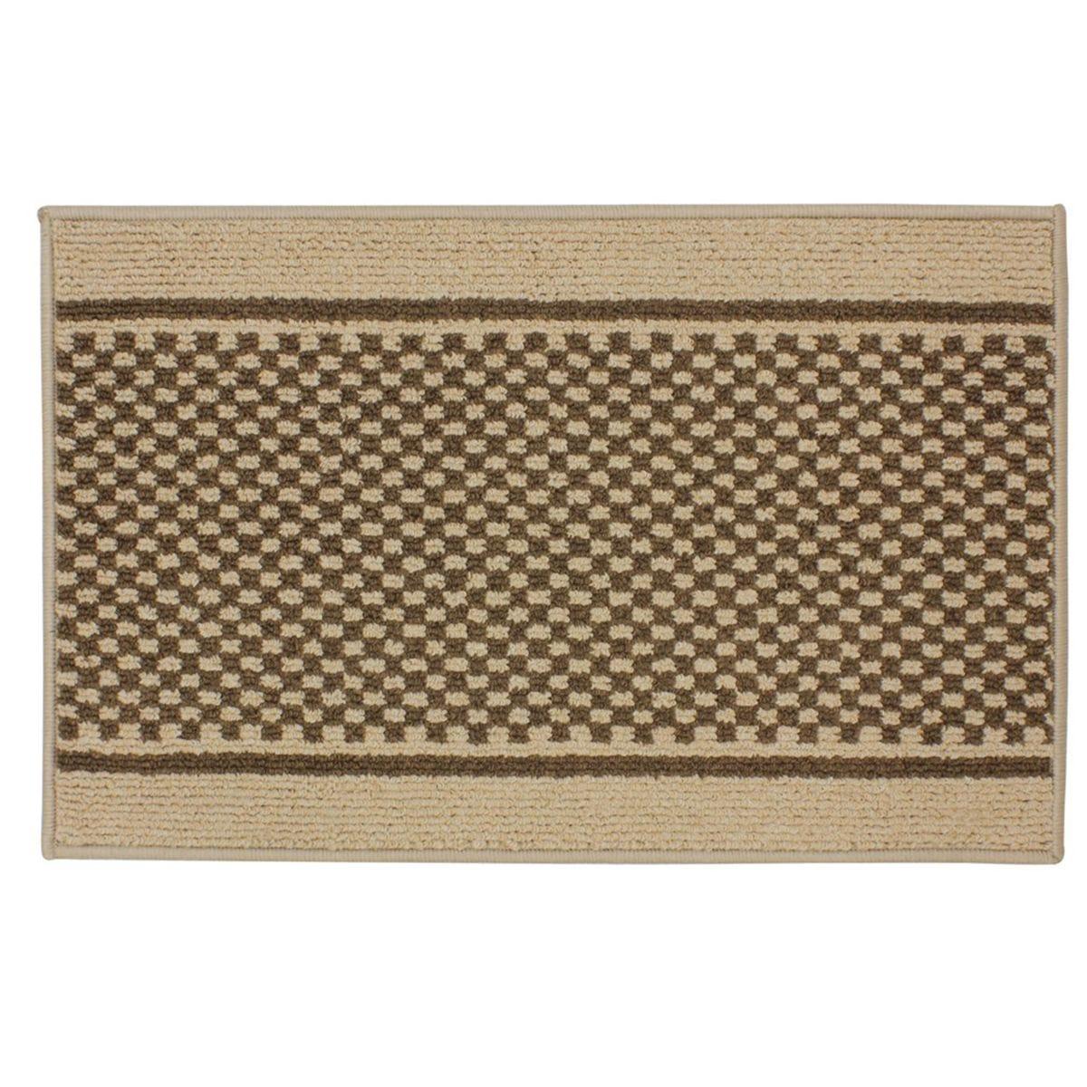 JVL 50x80cm Bologna Entrance Doormat - Beige/Brown
