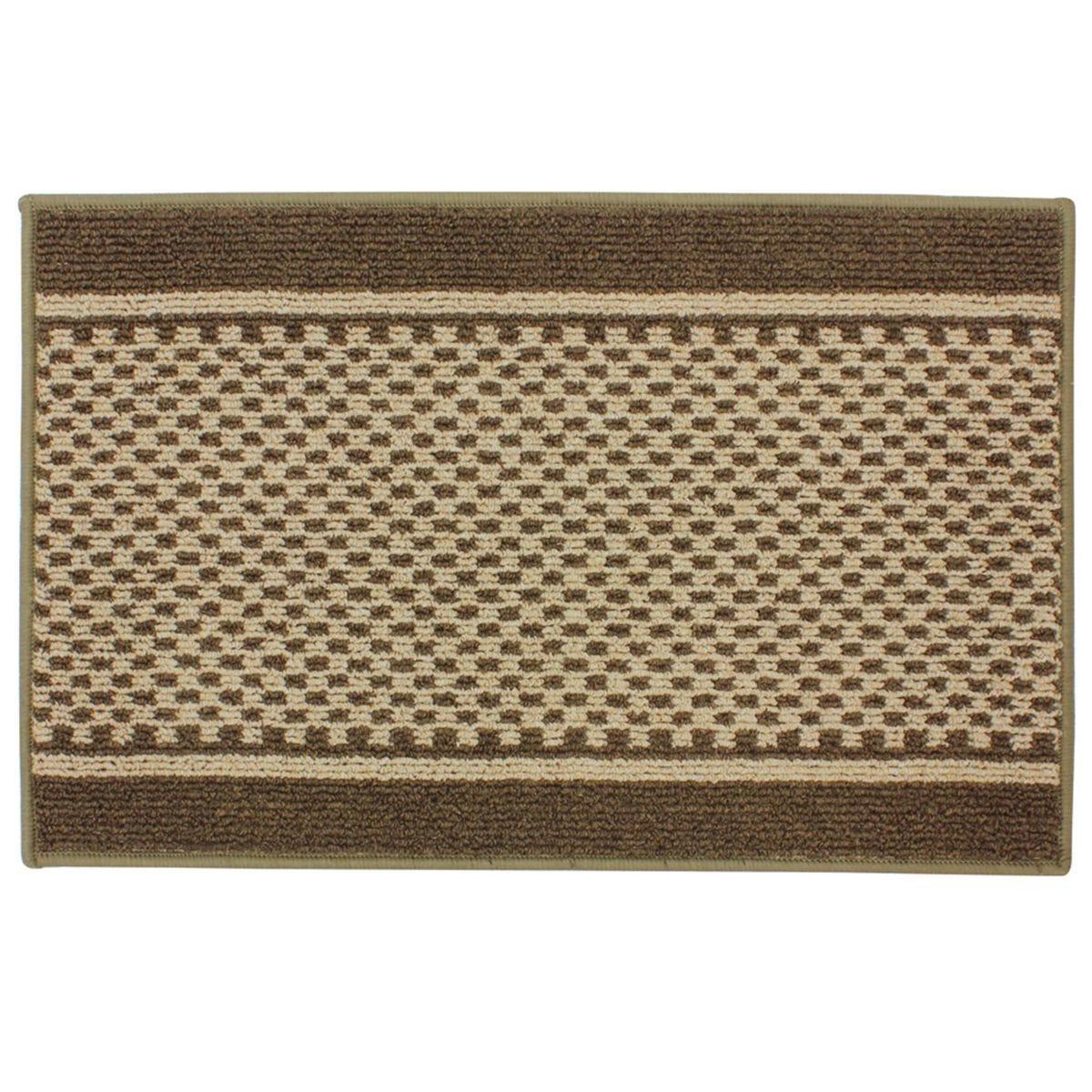 JVL 50x80cm Bologna Entrance Doormat - Brown/Beige