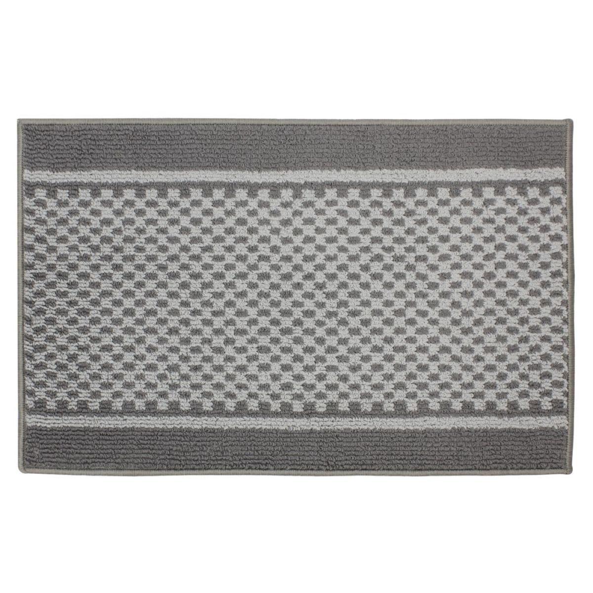 JVL 50x80cm Bologna Entrance Doormat - Dark/Light Grey