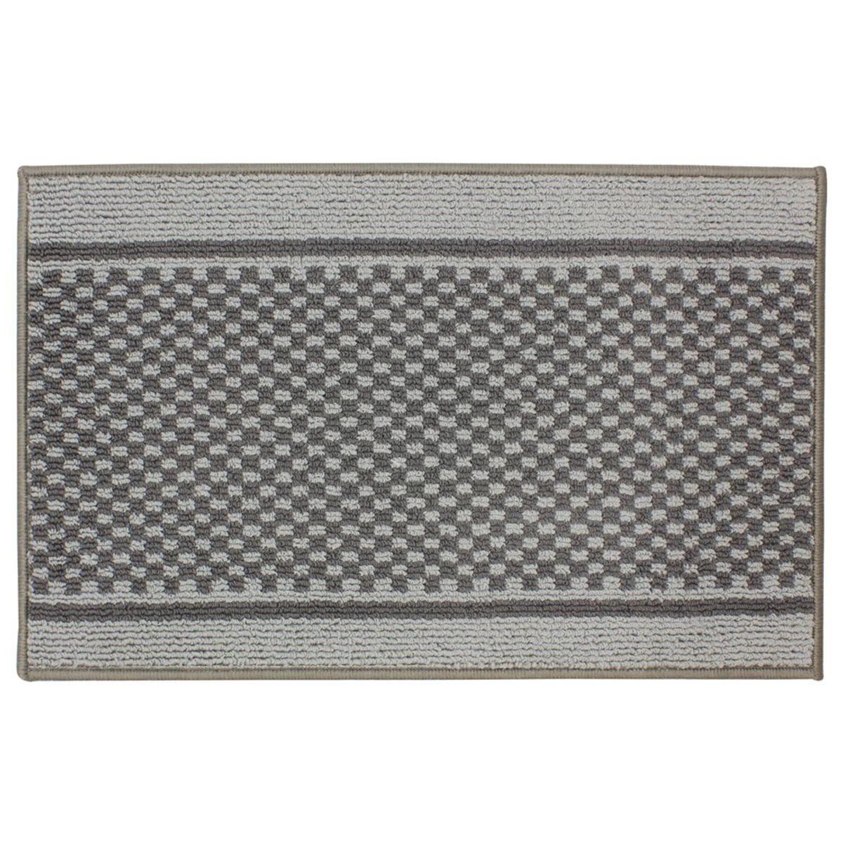 JVL 50x80cm Bologna Entrance Doormat - Light/Dark Grey