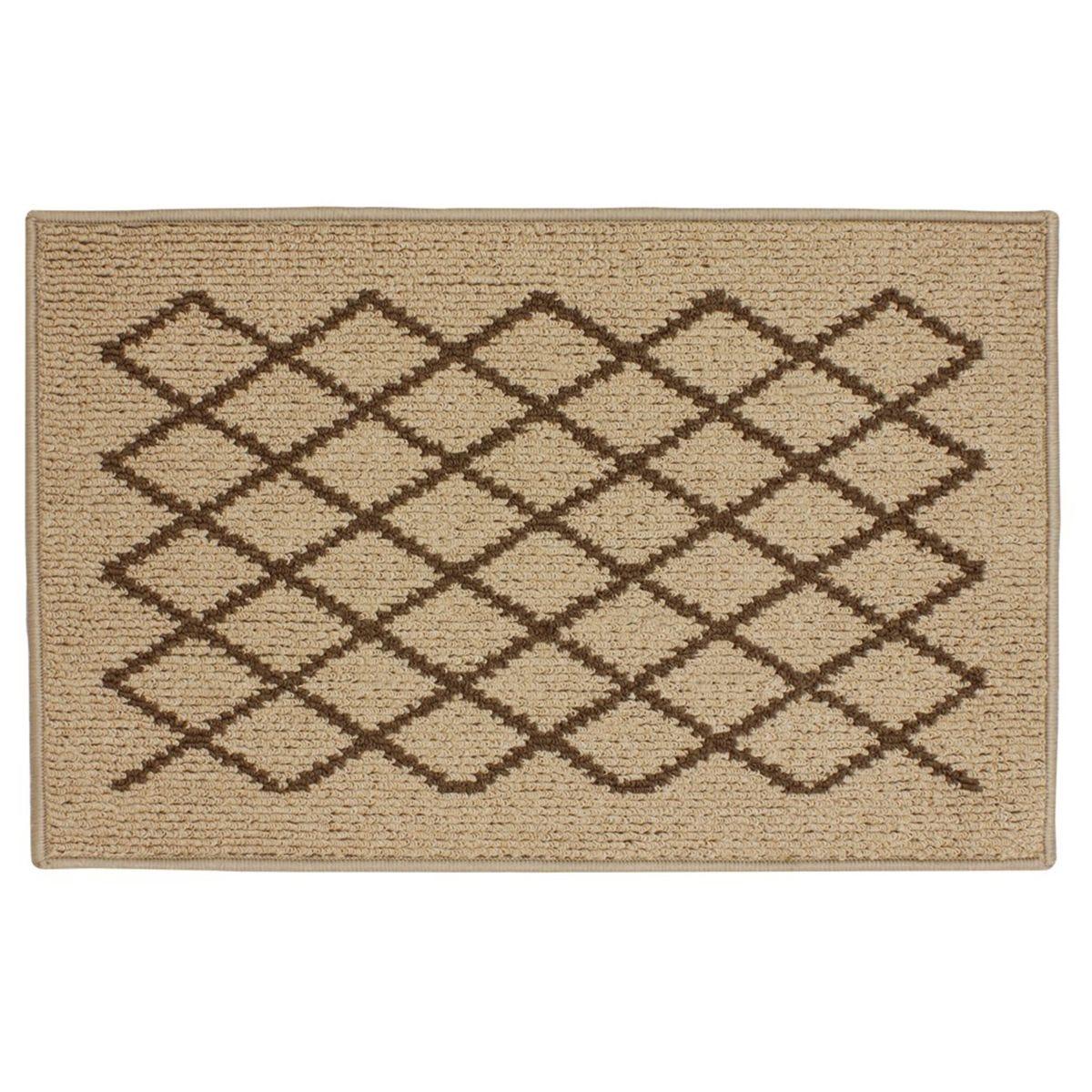 JVL 50x80cm Bergamo Doormat - Beige/Brown