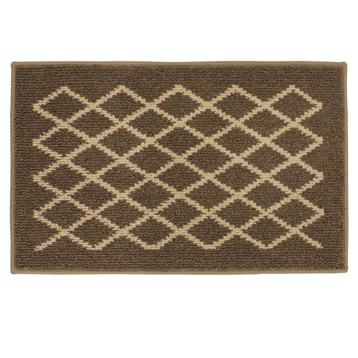 JVL 50x80cm Bergamo Doormat - Brown/Beige