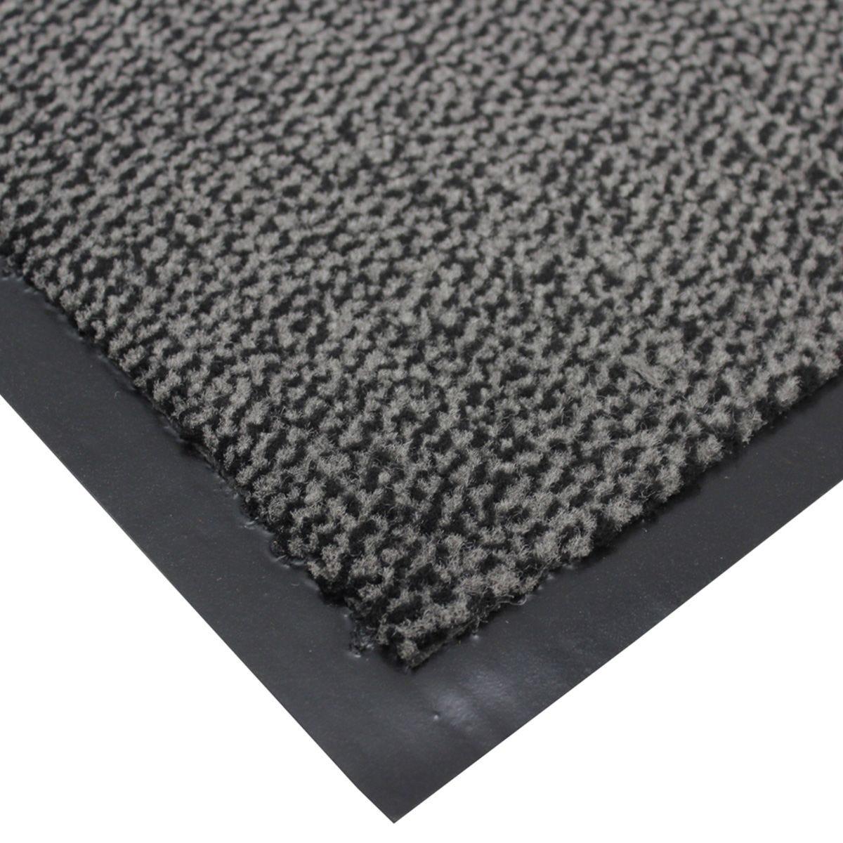 JVL Heavy Duty Commodore Backed Barrier Door Floor Mat Green/Black 60 x 80 cm