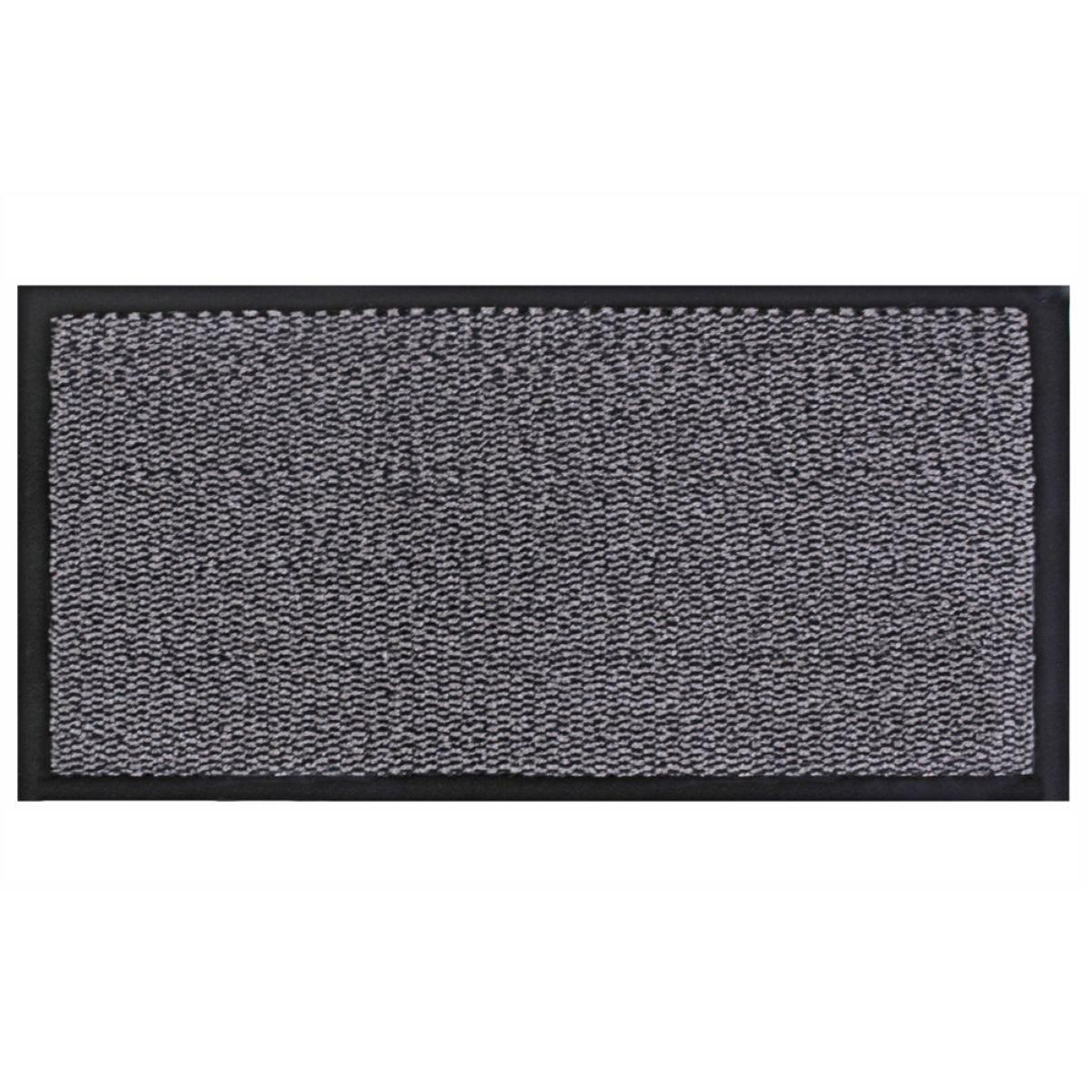 JVL Heavy Duty Commodore Backed Barrier Door Floor Mat Grey/Black 60 x 150 cm