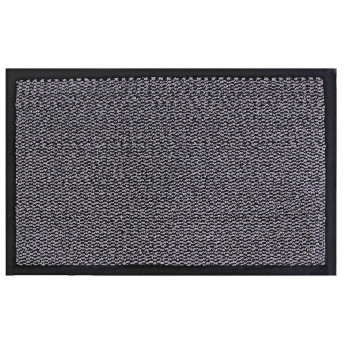 JVL Heavy Duty Commodore Backed Barrier Door Floor Mat Grey/Black 80 x 120 cm