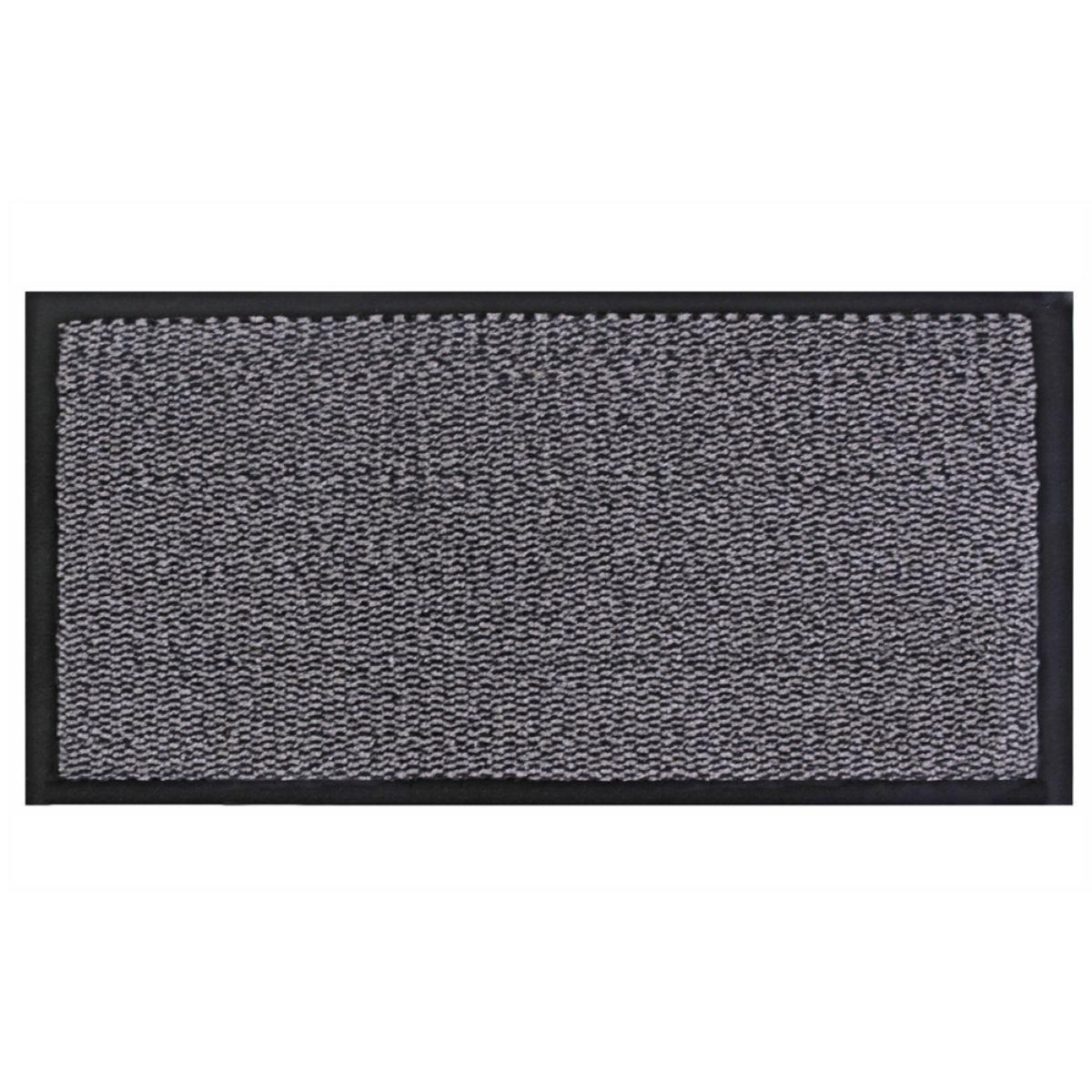 JVL Heavy Duty Commodore Backed Barrier Door Floor Mat Grey/Black 80 x 140 cm