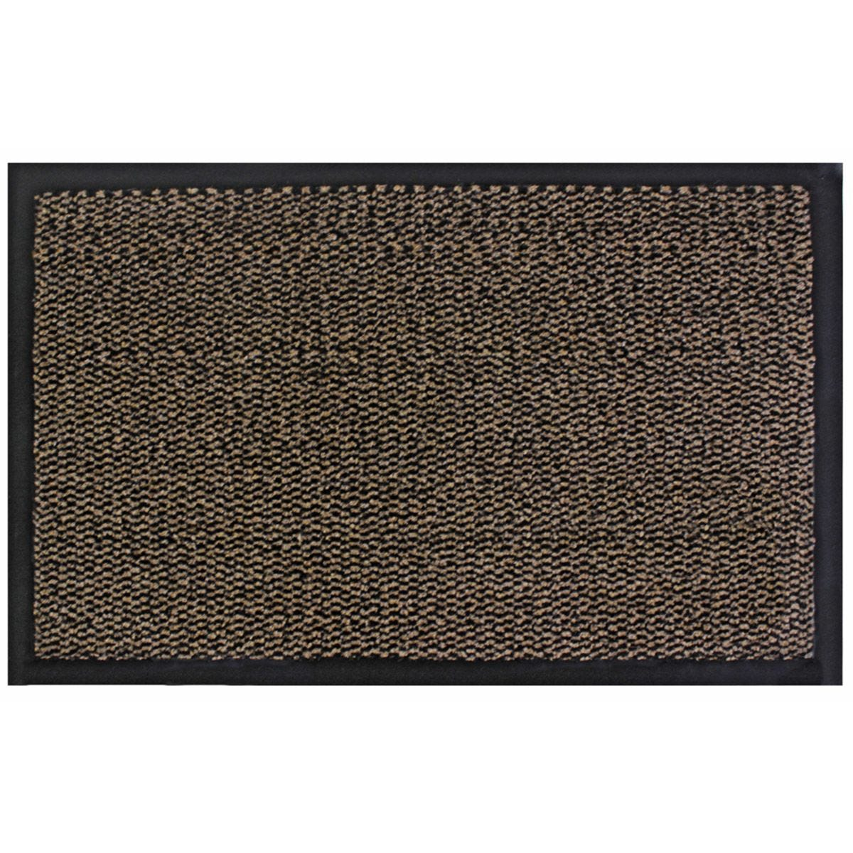JVL Heavy Duty Commodore Backed Barrier Door Floor Mat Brown/Black 60 x 80 cm