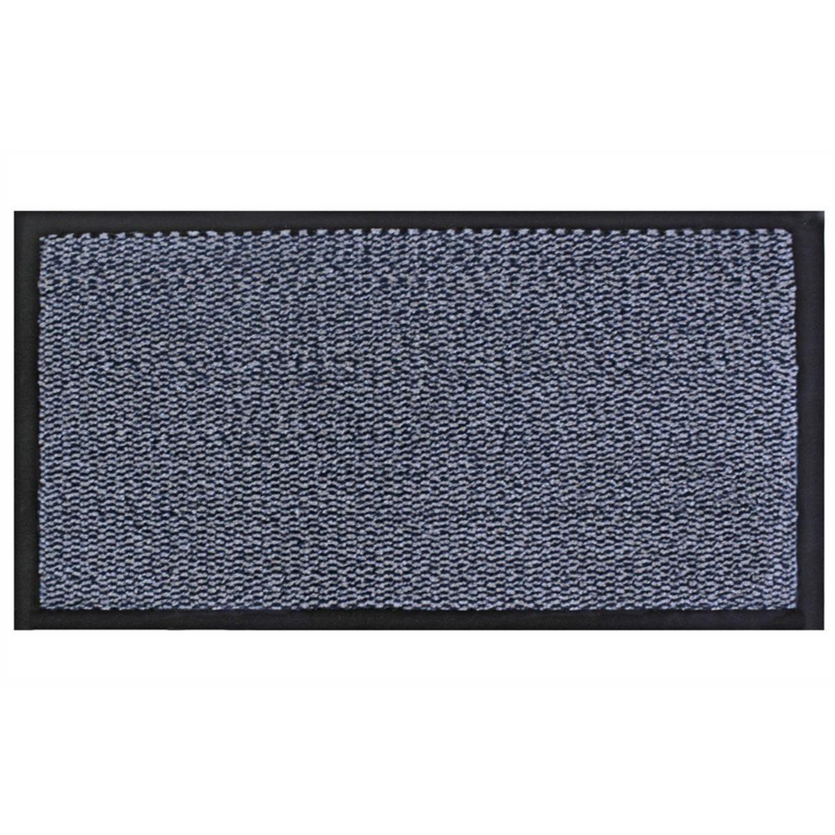 JVL Heavy Duty Commodore Backed Barrier Door Floor Mat Blue/Black 60 x 150 cm