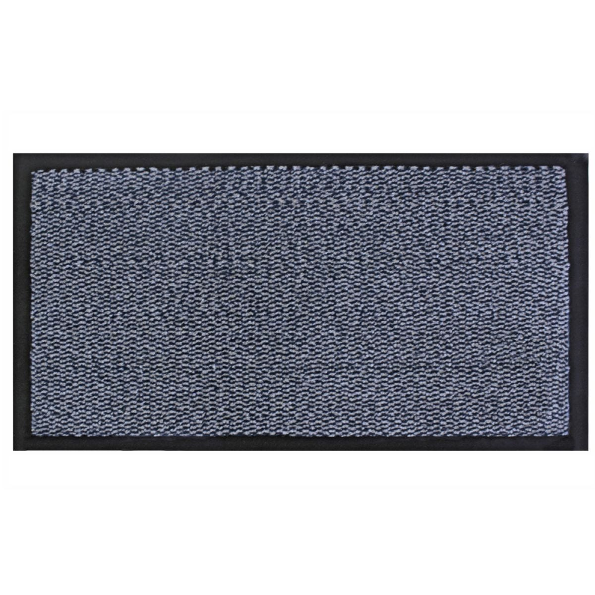 JVL Heavy Duty Commodore Backed Barrier Door Floor Mat Blue/Black 80 x 140 cm