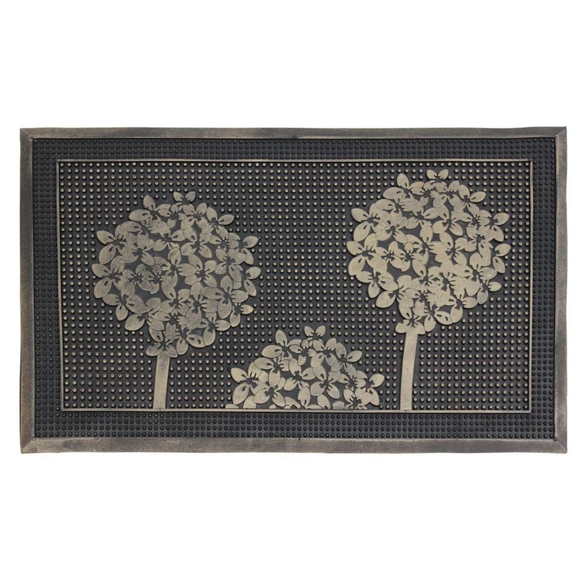 JVL Havana Heavy Duty Welcome Rubber Pin Door Mat Trees 40 x 60 cm