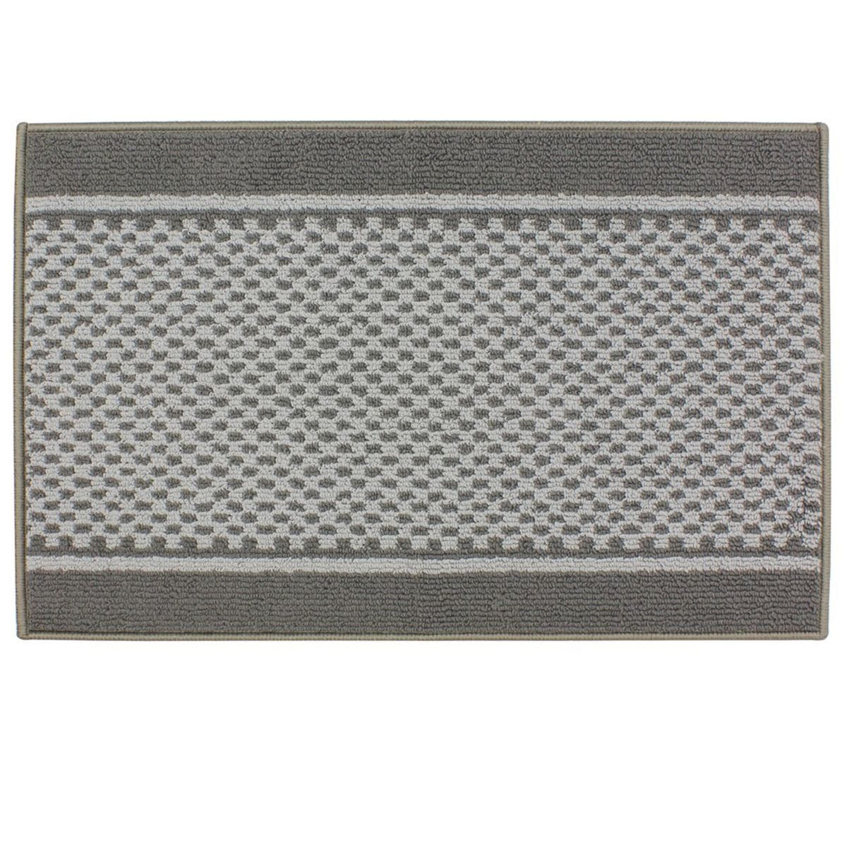 JVL 57x90cm Bologna Machine Washable Door Mat - Dark/Light Grey