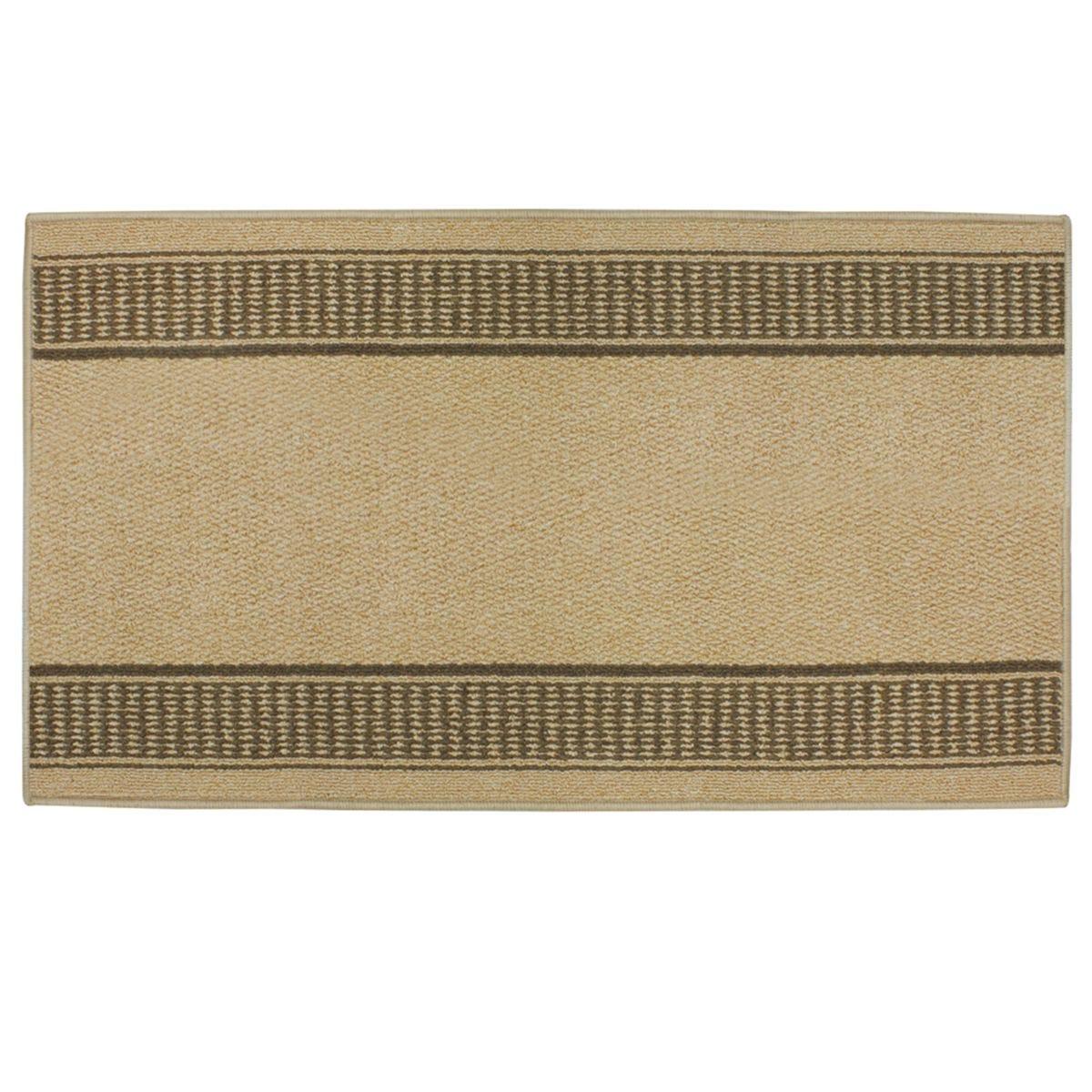 JVL 67x120cm Bergamo Runner Machine Washable Doormat - Beige/Brown