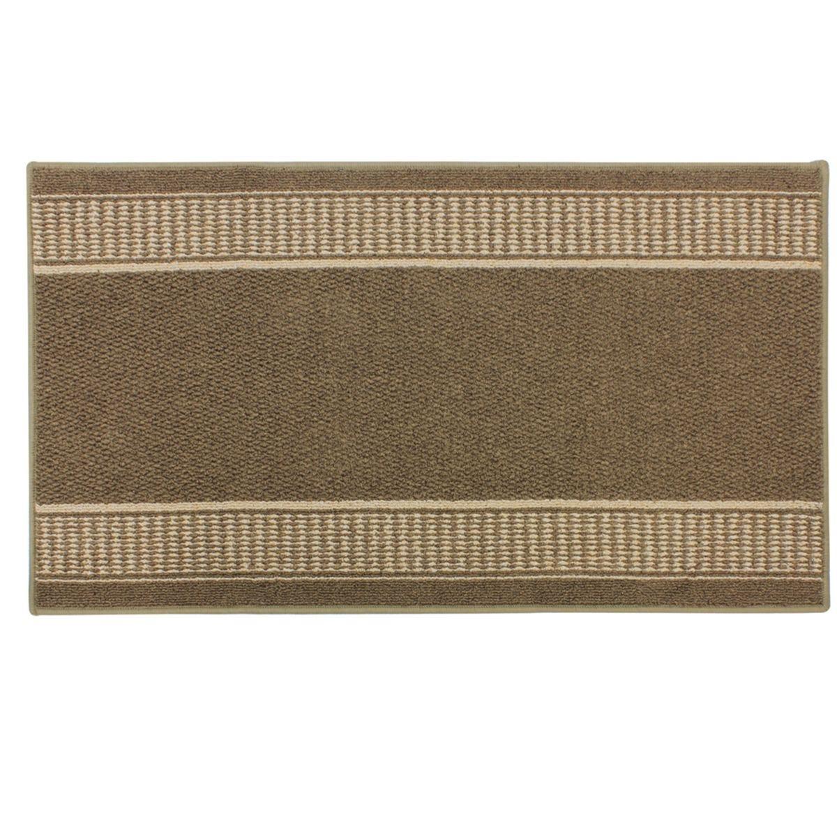 JVL 67x120cm Bergamo Runner Machine Washable Doormat - Brown/Beige