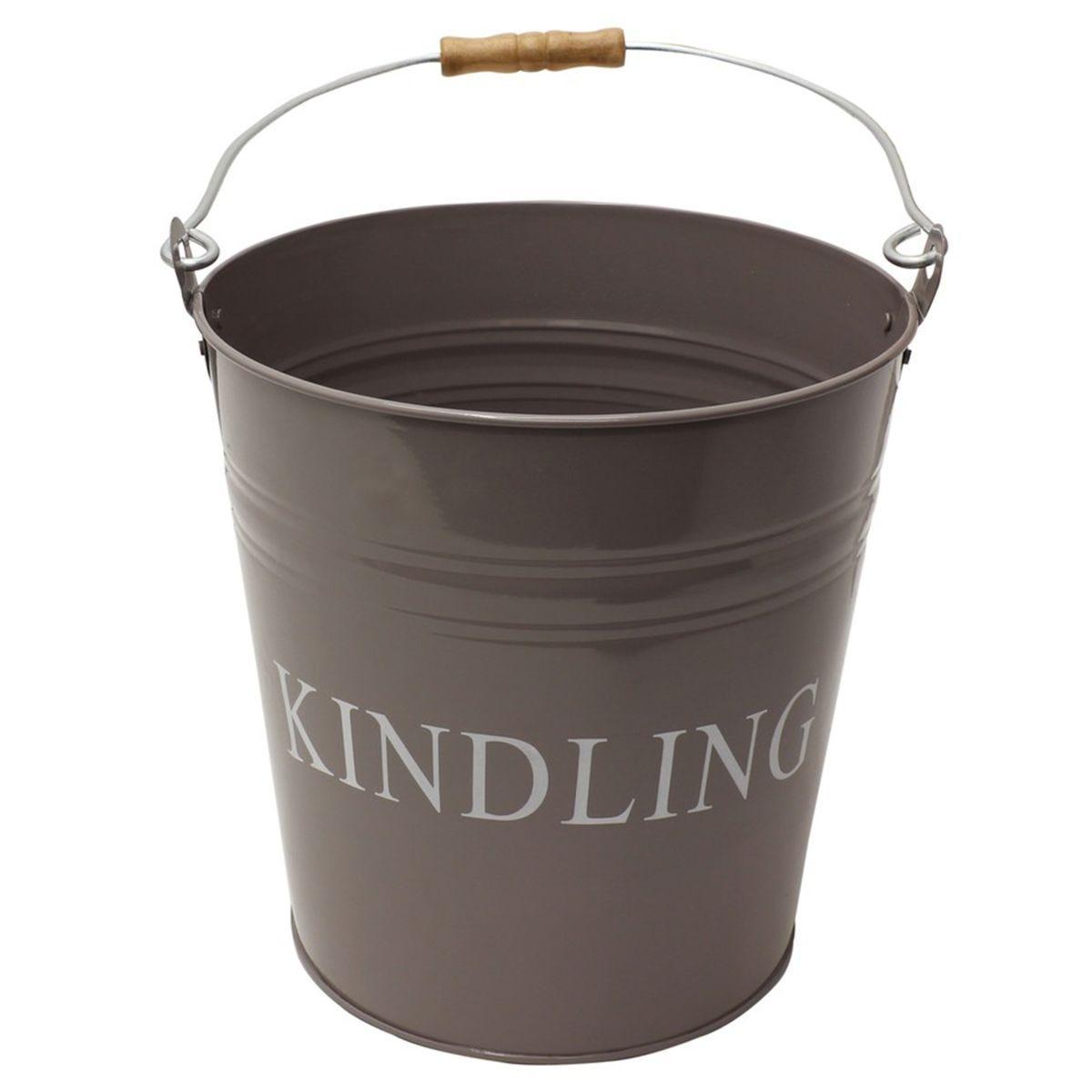 JVL Charlton Fireside Metal Kindling Bucket
